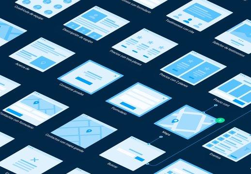 Kit de diagramas de flujo web de plataforma