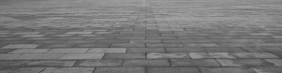 Grey brick stone street road. Light sidewalk, pavement texture Wall mural