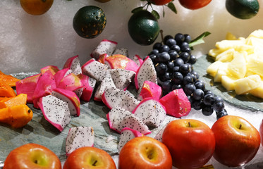 Fruits prepared for buffet