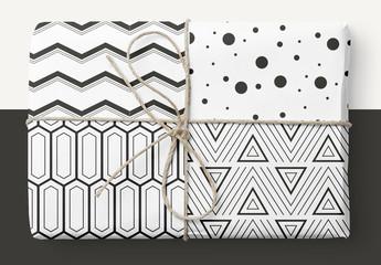 Insieme di pattern geometrici audaci