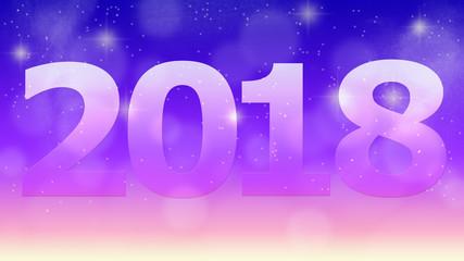 「 2018 」に星空の背景