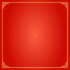 Chinese Traditional Background, The Great Wall Style Frame