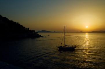 Sunset over Hydra, Greece