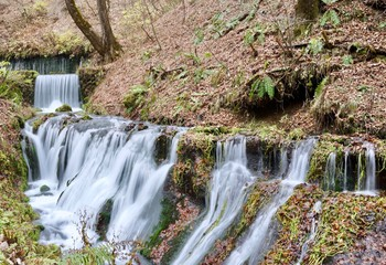 Shiraito-no-taki Waterfall is one of the most famous sites in Karuizawa, Japan