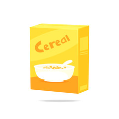 Cereal box vector