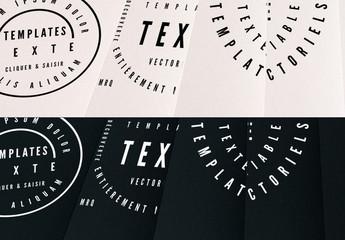 Kit de logos texte basiques