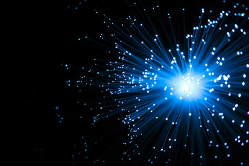 Abstract Optic Fiber Sci-Fi Technology Concept Background