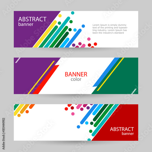 Set Horizontal Banners With Empty Place For Text Abstract