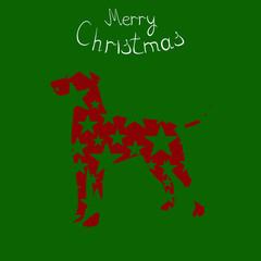 Christmas card,Christmas dog