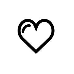Like heart vector icon
