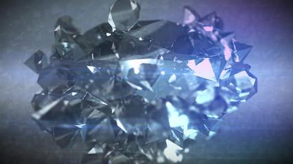 Shimmering Diamonds Flying Together