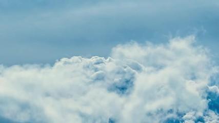 Fotobehang - Epic storm clouds over blue sky background. Timelapse.