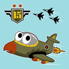 cute jet fighter cartoon
