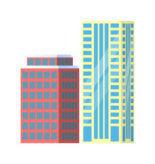 Set of City Buildings Icons Vector Illustration