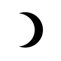 Vector crescent moon.