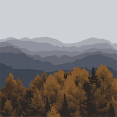 The mountains. Vector Illustration.