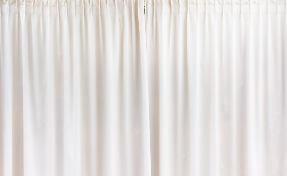 White curtain background textile pattern