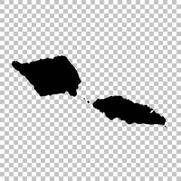 Vector map Samoa. Isolated vector Illustration. Black on White background. EPS 10 Illustration.
