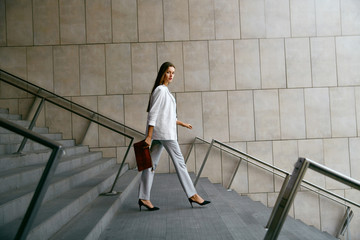 Business Women Style. Woman Going To Work Fotomurales