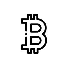 Bitcoin symbol vector icon