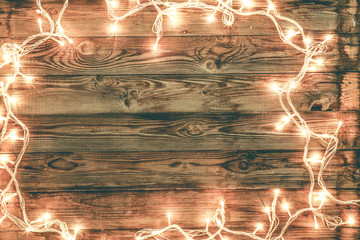 Wooden background for christmas congratulations