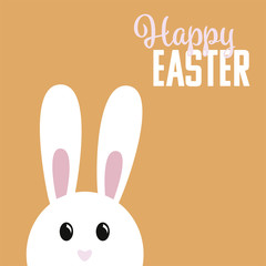Easter bunny with greeting text