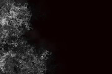 Realistic Burning Fire Smoke on Black