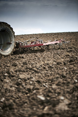 Fototapete - A manure spreader