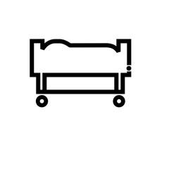 Sedan chair vector icon