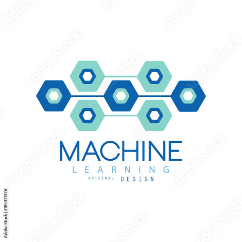 Flat Machine Learning Logo Design Computer Science And Technology