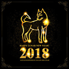 Symbol of chinese new 2018 year.