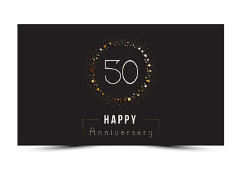 50 years Happy Anniversary card. Vector illustration