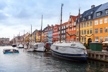 Nyhavn. New Harbour, Copenhagen, Denmark