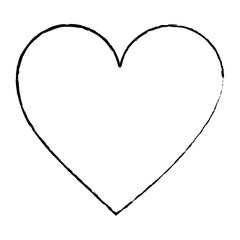 heart cartoon icon image vector illustration design  black sketch line