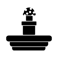 mushroom coming out of tunnel video game related icon image vector illustration design  black and white