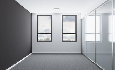 Empty interior. 3D rendering.