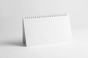 Blank desk calendar on white background. Mockup for design