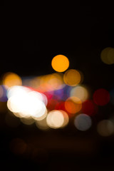 night city abstract bokeh background