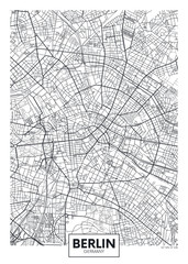 Detailed vector poster city map Berlin