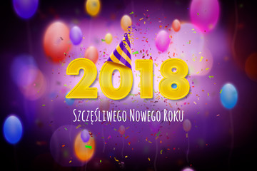 Szczęśliwego Nowego Roku 2018