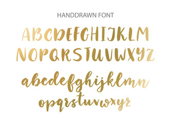 Handwritten Brush font. Hand drawn brush style modern calligraphy.