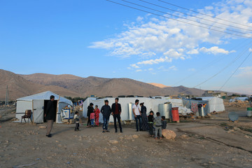 General view of Sharya Camp, where Yazidi girls who were reunited with family after being enslaved by IS reside in Duhuk