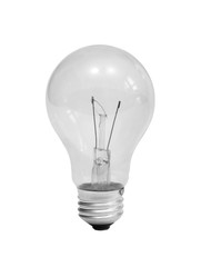 Classic light bulb isolated on white