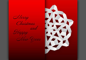 Cutout Snowflake Christmas and New Year's Card