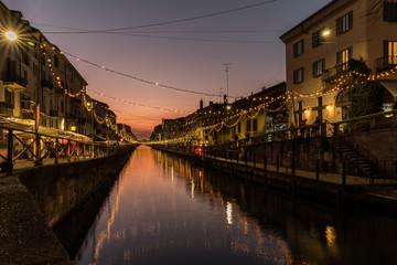 Milano , notturno al Navigli