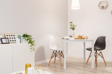 Nordic style dining area