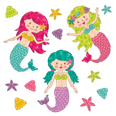 The Cute Mermaids