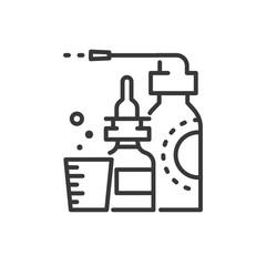 Medicines - line design single isolated icon