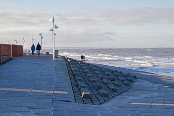 Norderney Winter Strand Promenade