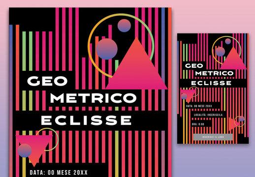 Poster eclissi geometrica